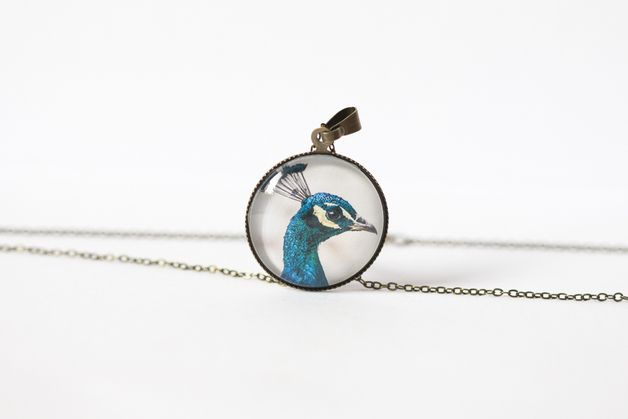 Naszyjnik z pawiem/Peacock pendant - Art-Of-Nature