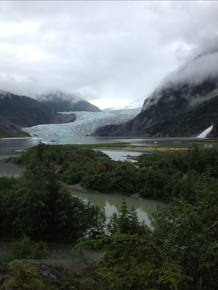 Mendenhall Glacier and Nugget Falls, Tongass National Forest, Alaska