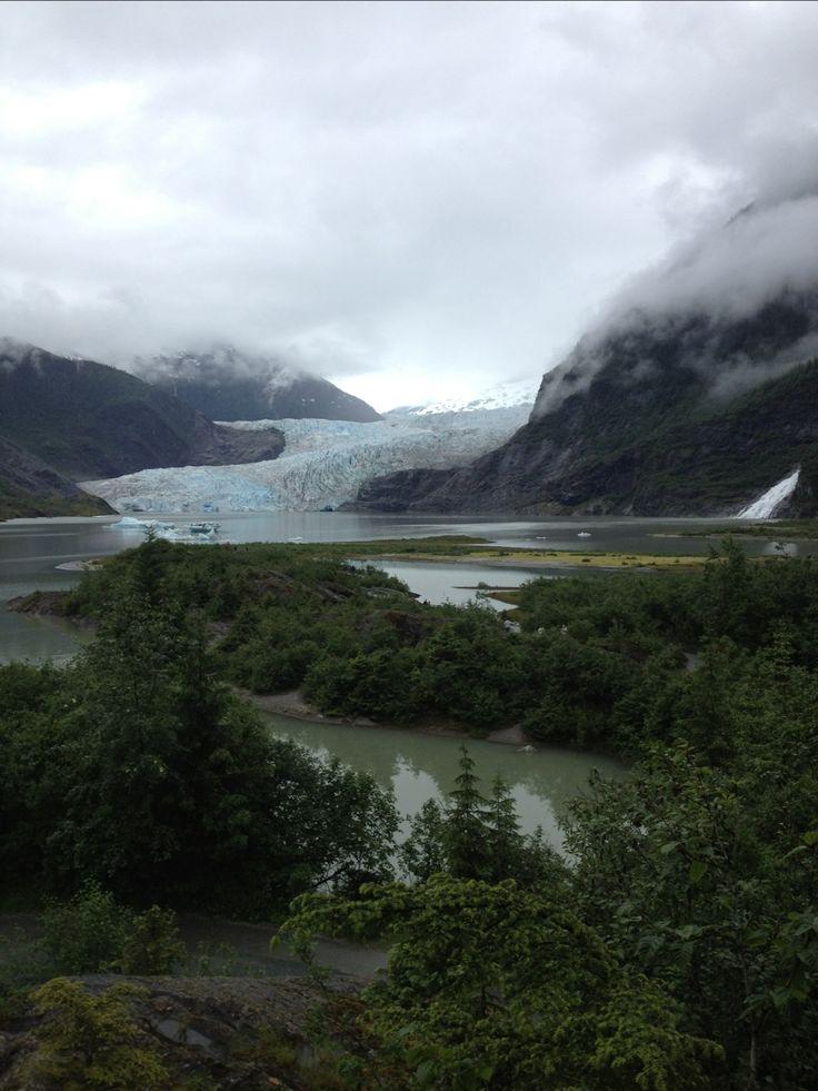 Mendenhall Glacier and Nugget Falls, Tongass National Forest, Alaska