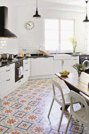 дизайн пола на кухне в восточном стиле