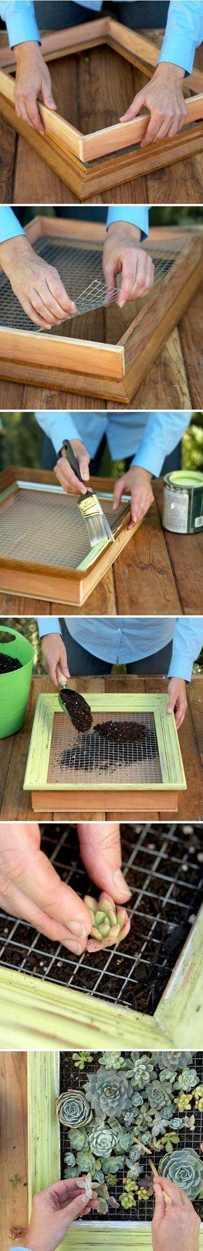 Cómo construir un cuadro vivo o Jardin vertical #césped artificial #www.stepongreen.com