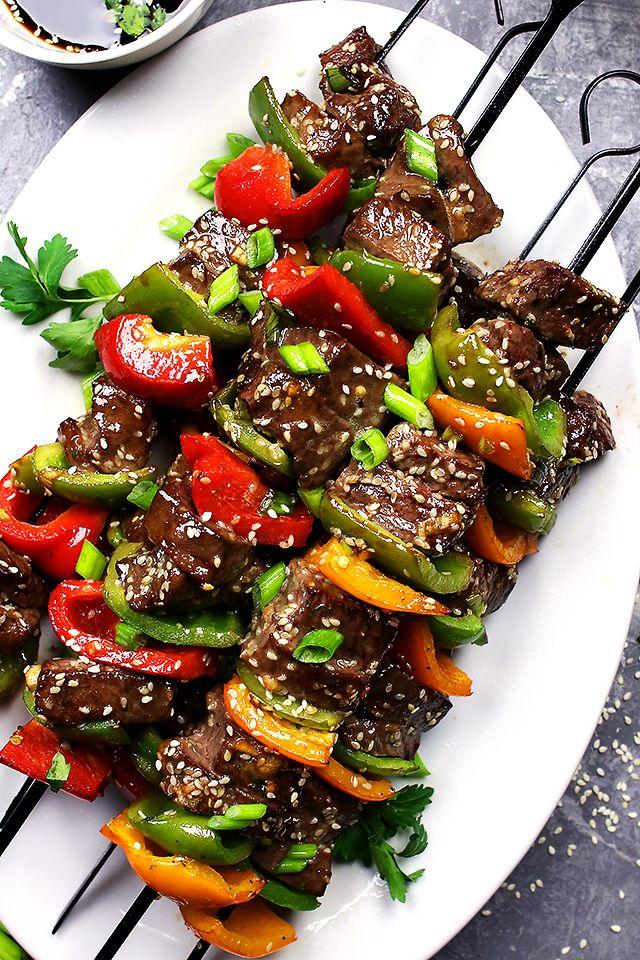 17+ ideas about Beef Skewers on Pinterest   Steak skewers ...