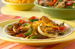 Grilled Orange Chipotle Pork Fajitas. I'm going to try this with left over pork roast. Warming it up on the grill.