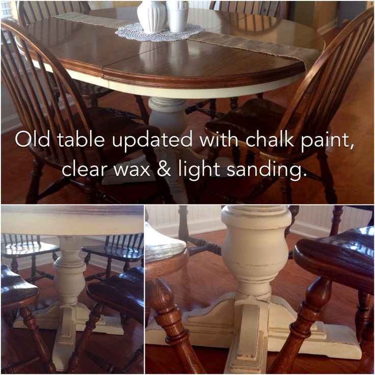 Weekend Project Old Kitchen Table Updated With 2 Coats Of