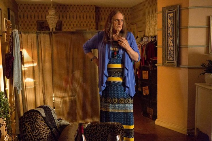 "Jeffrey Tambor plays Maura in the new Amazon series Transparent. Jill Soloway says she cast Tambor in the role because everyone knows Tambor as a ""dad figure."""