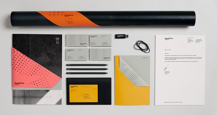 Print with block foil, die cut and folded detail by Grosz Co. Lab for architectural practice Ascui & Co.