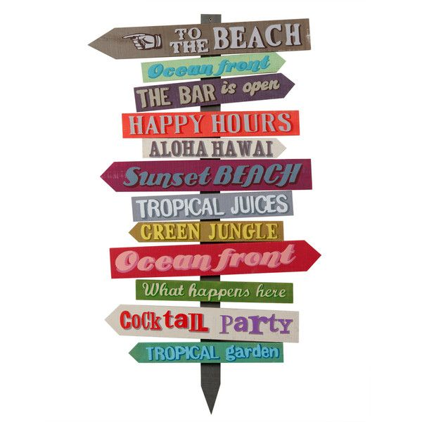 FIESTA wooden decorative signpost, ...