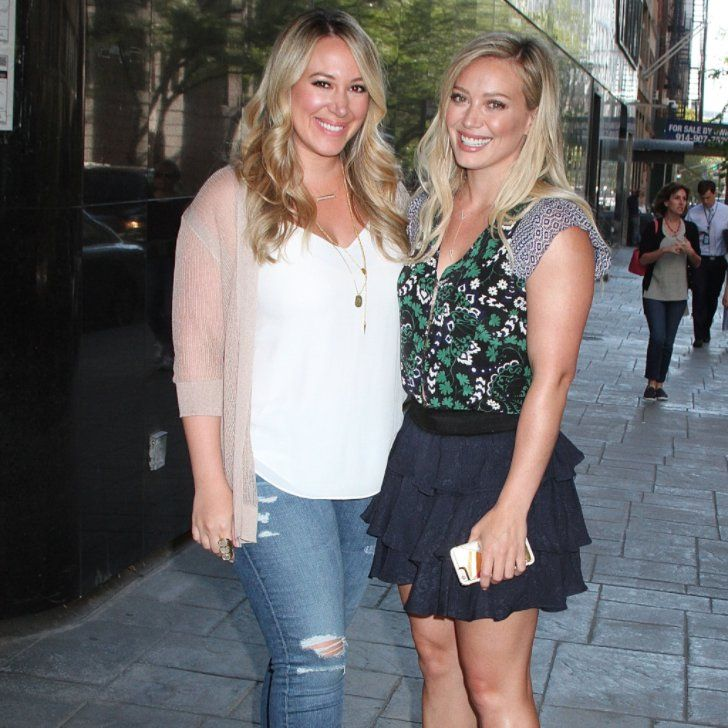 Hilary and Haylie Duff Have a Sisterly Date in NYC