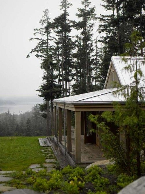 <3Cabin, Dreams Home, Front Porches Design, The View, San Juan Islands, Traditional Exterior, House, Covers Porches, Bosworth Hoedemak