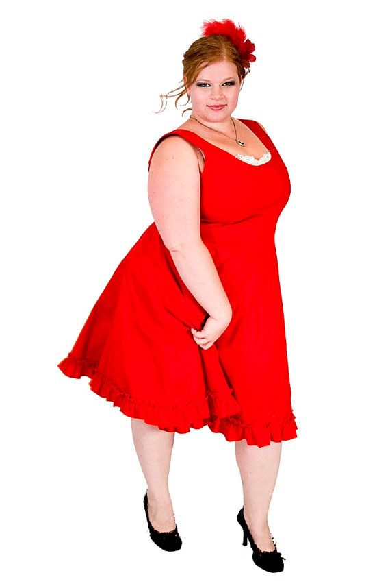 Plus size Rockabilly Dress Vintage Style Cotton by KMKDesignsllc, $205.00