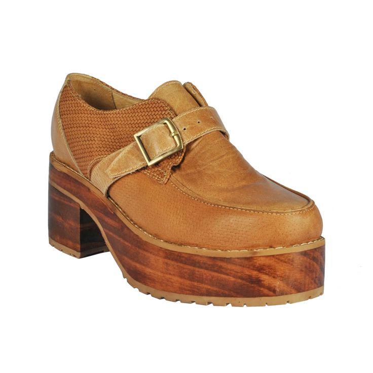 Zapato de mujer Frank Brown café.