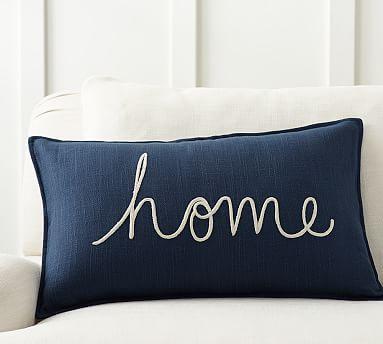 Home Sentiment Lumbar Pillow Cover #potterybarn