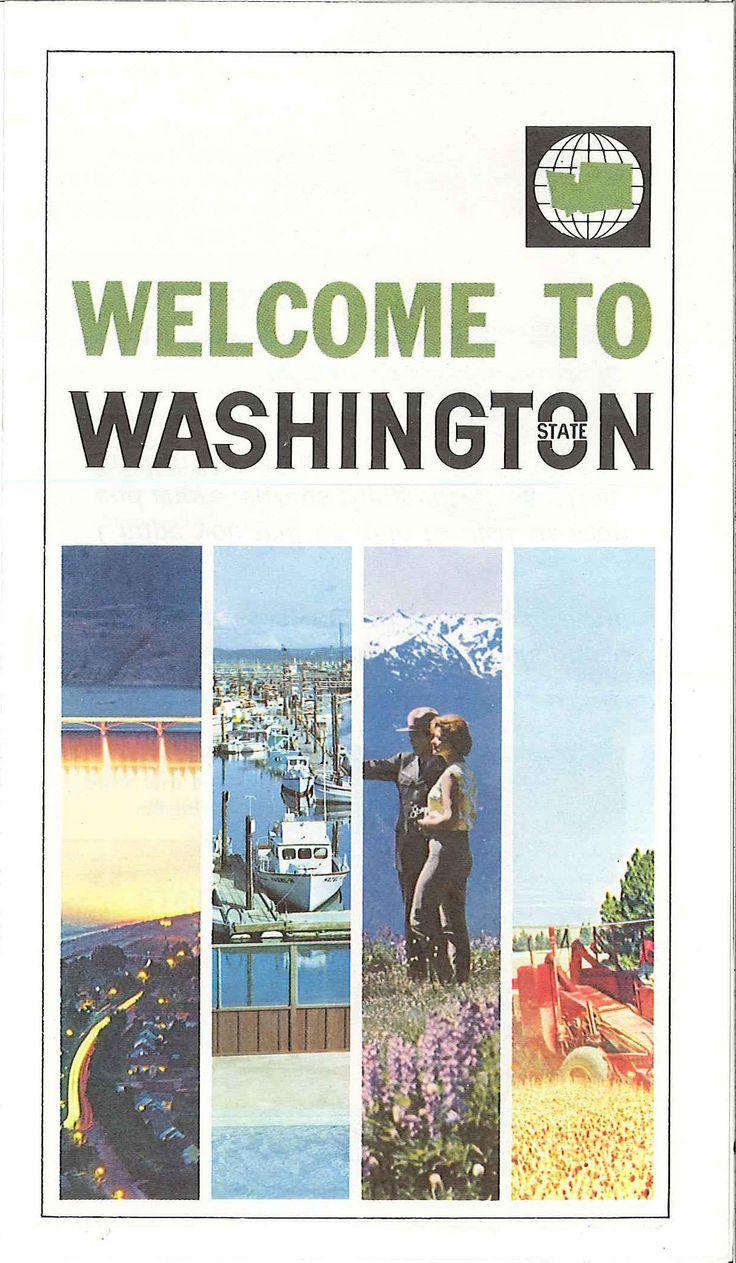 Washington State tourism brochure, circa 1970