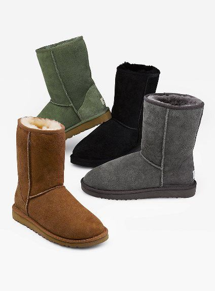 uggs, they might not be the prettiest boot but they are sure comfortable