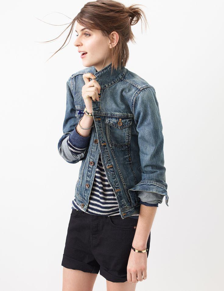 jean jacket + shorts l madewell.