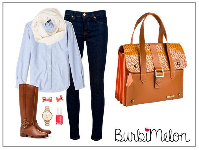 Este es nuestro outfit con el bolso recomendado de la semana, perfecto para un día freso y cómodo.