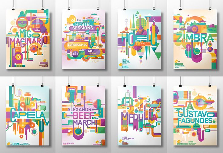OI FM Radio posters on Behance