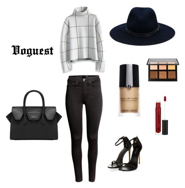 """Voguest !!"" by thevoguestparis on Polyvore featuring mode, H&M, Chicwish, rag & bone, Giorgio Armani et Anastasia Beverly Hills"