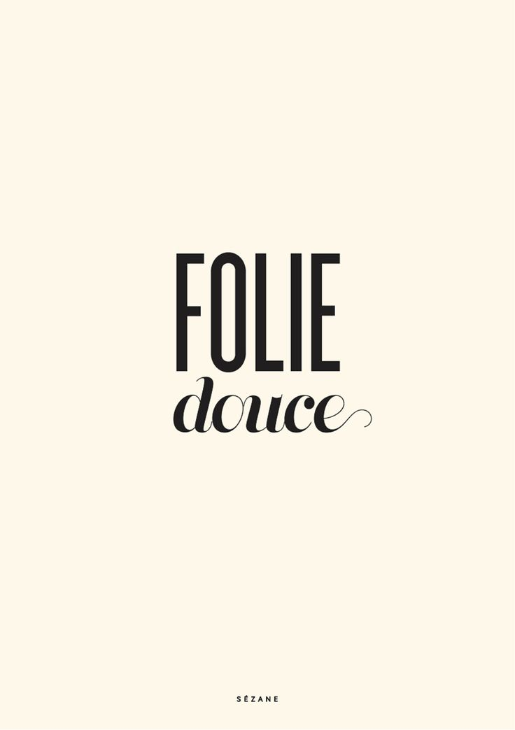 Folie douce - Journal Sézane Sezane Typography Card #sezane #journalsezane