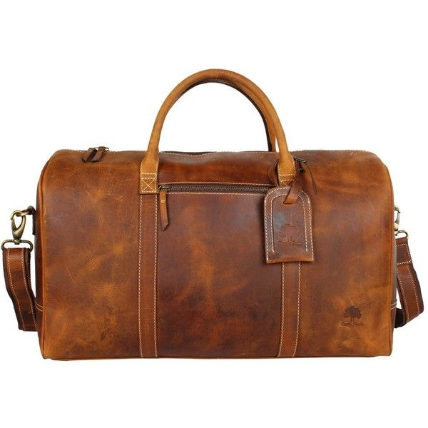 Crazy Horse Leather Travel Duffel Bag Boarding Luggage Carry On Gifts... ($199)…