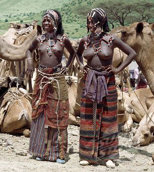 Two young Afar girls