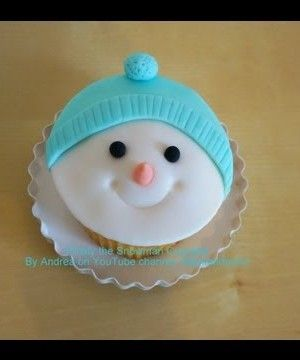 Frosty the Snowman Christmas Cupcake Tutorial Tutorial on Cake Central