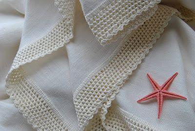 CROCHET -handmade: crochet - mantel de lino y servilletas