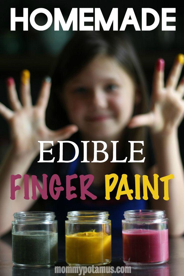 Just two ingredients! #fingerpaintrecipe