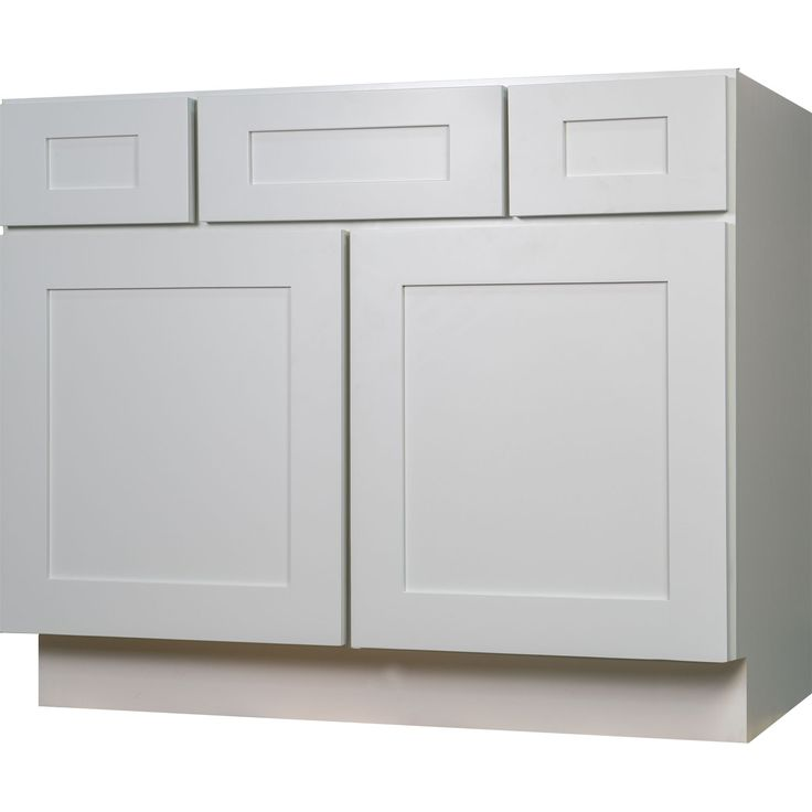 42 Inch Bathroom Vanity Single Sink Cabinet In Shaker White With Soft Close Drawers Doors