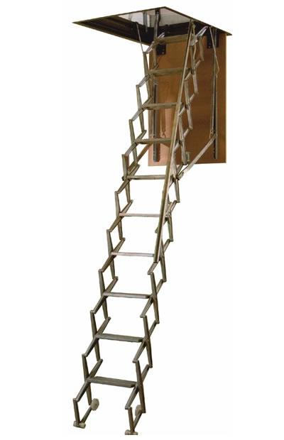 escalera de techo de aluminio para la buhardilla
