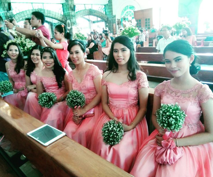 The bridesmaids and the secondary sponsors  Gowns designed by:AuraVMCE Instagram: @AuraVMC Facebook: https://facebook.com/AuraVMC Contact me at:09959574600