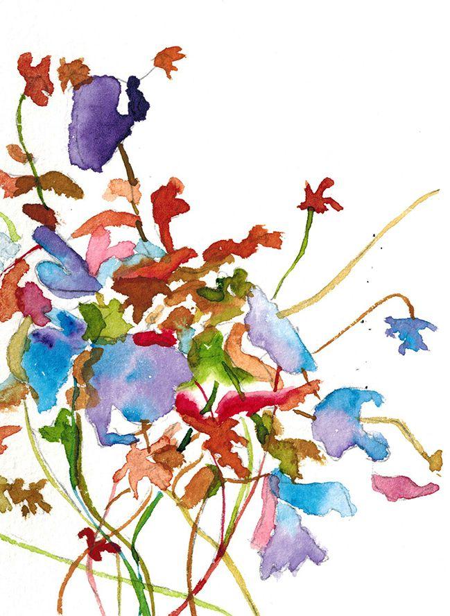 Bouquet, aquarelle par Annie Collette