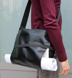 Interesting messenger bag design with adjustable modular flap to hold various things - Moleskine Store