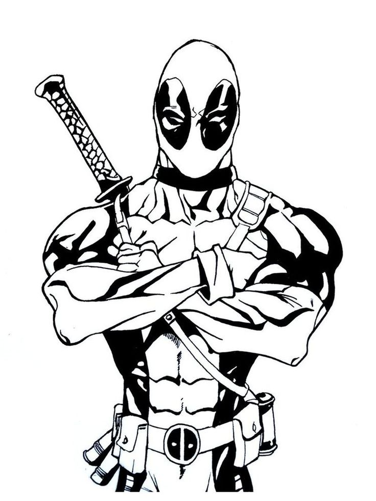 25+ Deadpool coloring pages cartoon info
