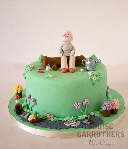 553 best images about garden cakes on pinterest garden for Garden theme cake designs