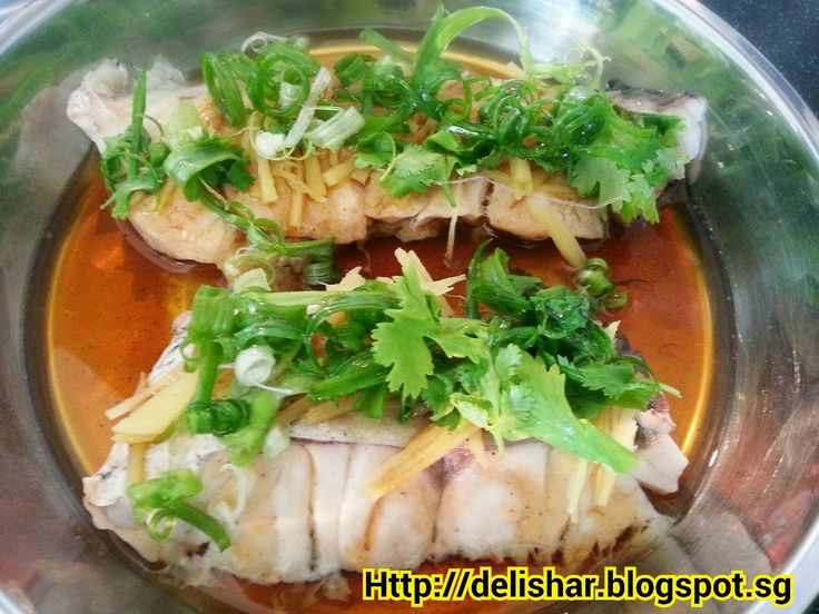 Cantonese Style Steamed Fish Steamed fish, Chinese