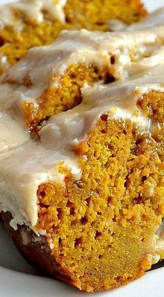 The Best Pumpkin Bread with Brown Butter Maple Icing Recipe