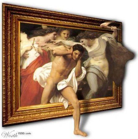 Pinturas que se salen de los marcos imagenes graciosas for Marcos para pinturas