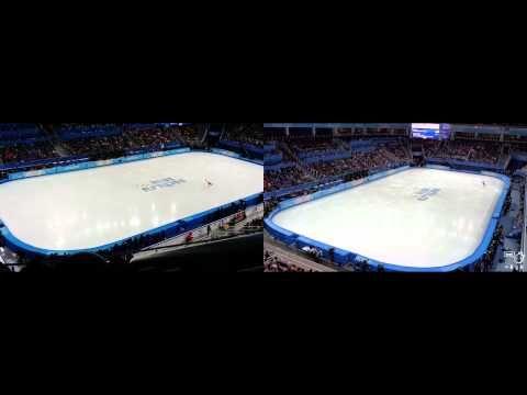 Adelina Sotnikova vs Yuna Kim Free Program at Sochi Fan Cam - YouTube