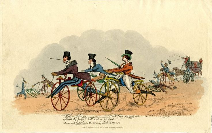 © The Trustees of the British Museum  Modern Olympics, 1819  Hand-coloured etching