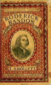 Tobias Smollett: The Adventures of Roderick Random
