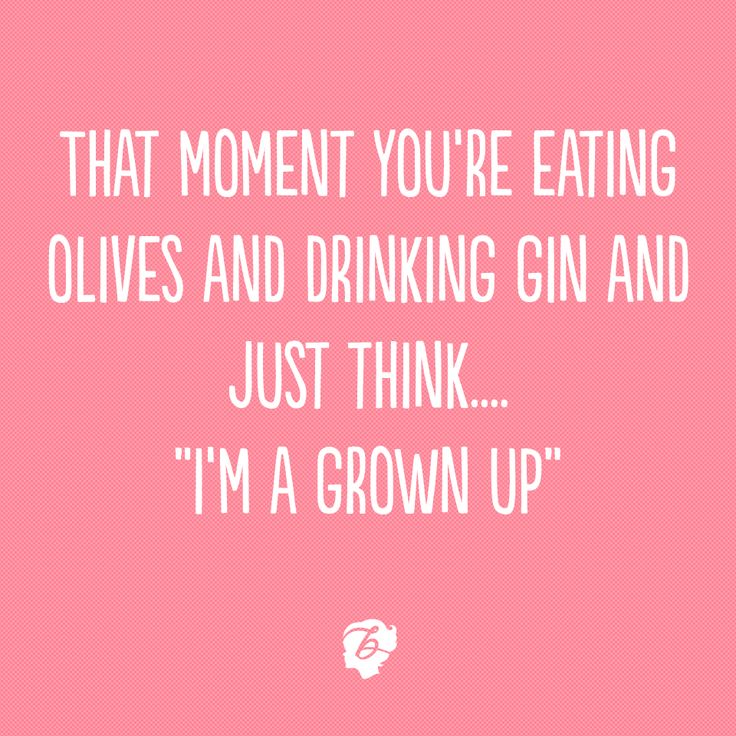 "That moment you're eating olives and drinking gin and just think... ""I'm a grown up""... Yes this is us xx"