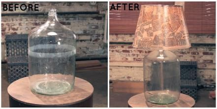 Just about anything you find at a flea market can instantly become a light fixture. Lara turned this jug into a lamp base and topped it with a shade she created out of old maps of Paris. Get more tips from Lara >>