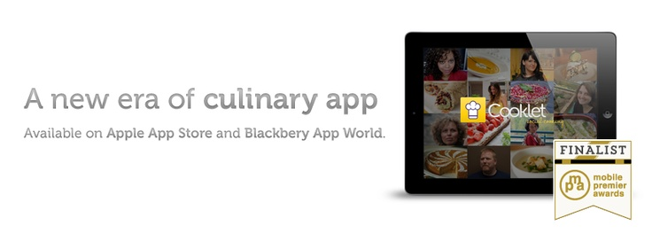 #Cooklet App finalist #Mobile Premiere Awards