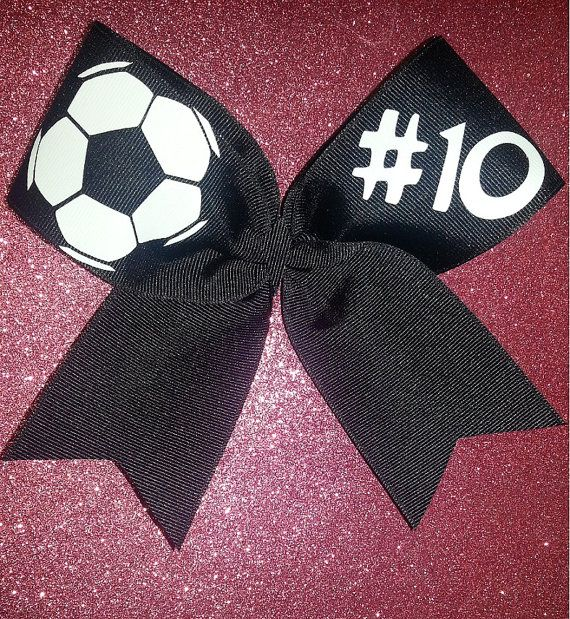 Soccer Bow by ThingsToCheerAbout on Etsy, $10.00