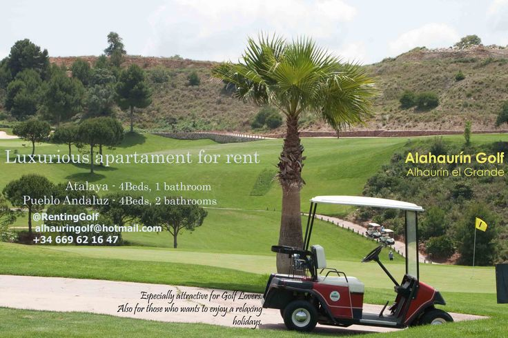 Luxurious apartaments for rent. Especially attractive for Golf Lovers, also for those who wants to enjoy a relaxingholidays.