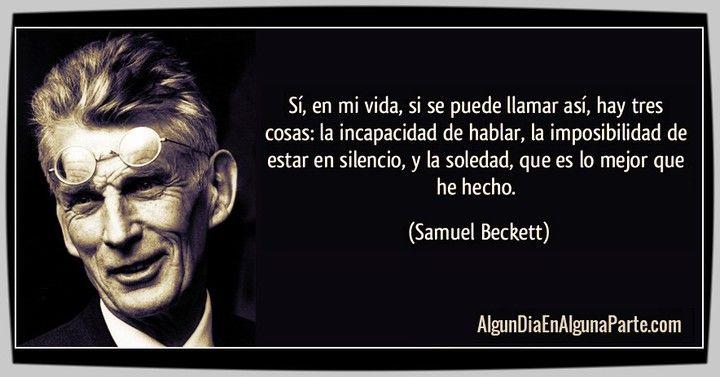 """El 22 de diciembre de 1989 #TalDíaComoHoy falleció el novelista poeta y dramaturgo irlandés Samuel Beckett máximo representante del teatro del absurdo con obras como """"Esperando a Godot"""" """"Molloy"""" y """"El innombrable"""" entre otras. Fue galardonado con el Premio Nobel de Literatura en 1969. Nació el 13 de abril de 1906.  #SamuelBeckett #Efemerides #Aniversarios #TalDíaComoHoy #UnDíaComoHoy #Citas #Fallecimientos #AlgunDiaEnAlgunaParte #Quotes #FrasesCélebres #ApostillasAlgunDia"""