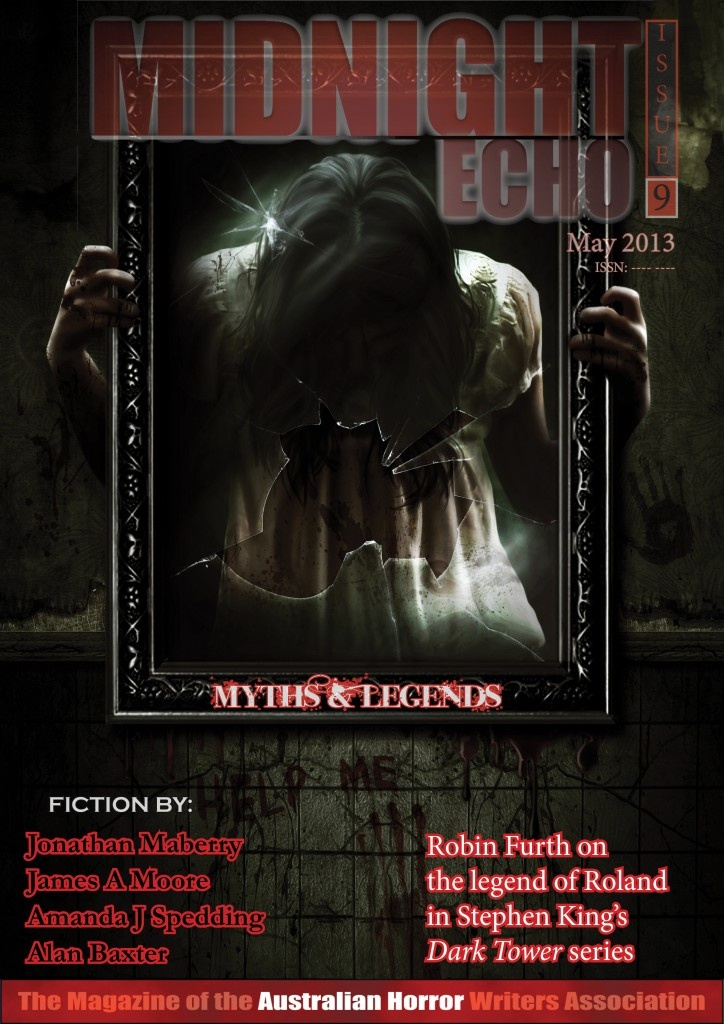 Cover for Midnight Echo Issue 9. Art and layout by Cohesion editing and Proofreading www.cohesionediting.com