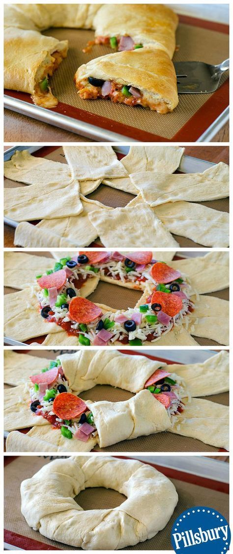 We have just officially crowned this the king of dinners! It rules the dining room table with it's supreme goodness. This Supreme Pizza Crescent Ring made by blogger Life In a Lofthouse has toppings galore with flaky crust you won't forget.