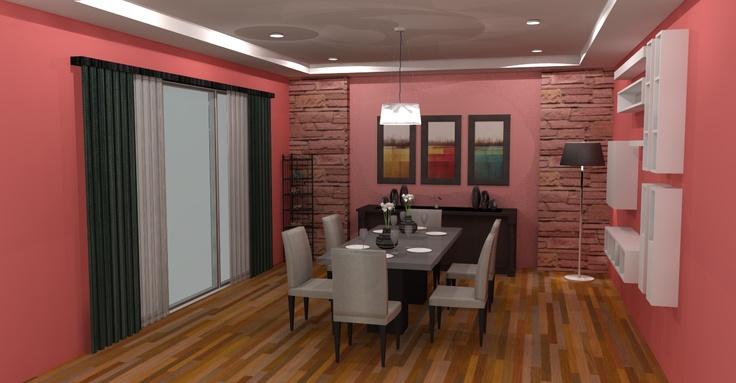 3D Dining Room 2